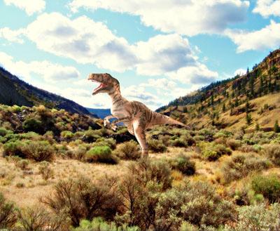 Фотообои на стену планета динозавров