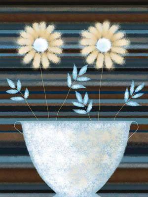Цветы в вазе картина живопись jo parry