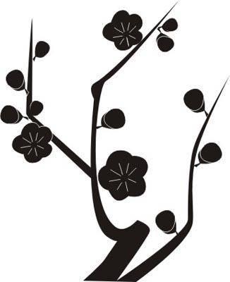 Наклейка на стену ветка сакуры | Интерьерная широкоформатная печать