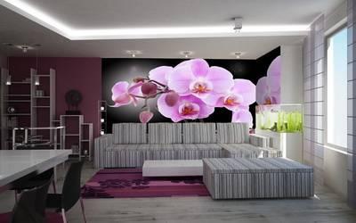 Гармония света, дизайна обоев и мебели