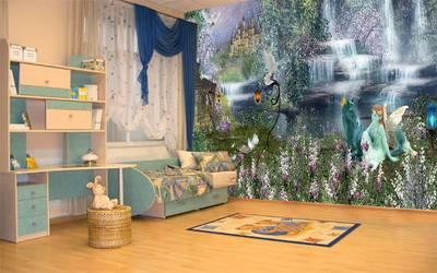 Фотообои сказка на стене в детской комнате