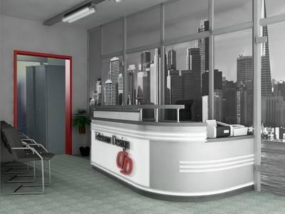 Дизайн стен офиса черно-белые фотообои Нью Йорк
