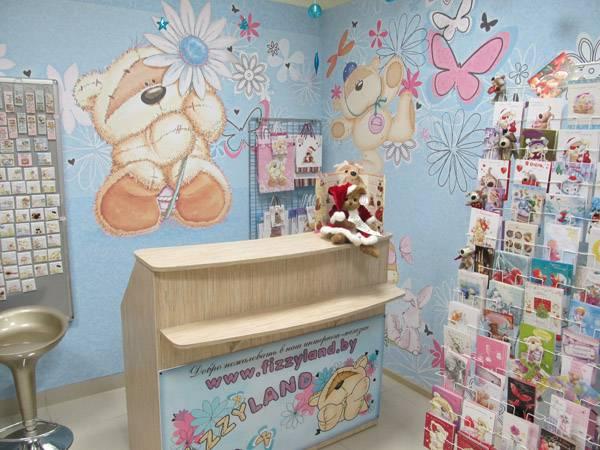 Оформление дизайна детского магазина фотообои