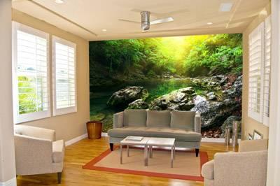 Пейзаж природы в интерьере, фото или арт-обои