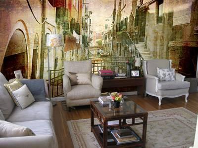 Фотообои фреска стиль гранж Венеция старый город